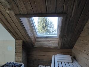 Sauna mit Altholz Innen- Verkleidung